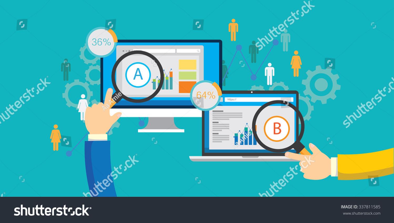 Ab Split Test Choice Stock Vector 337811585 Shutterstock