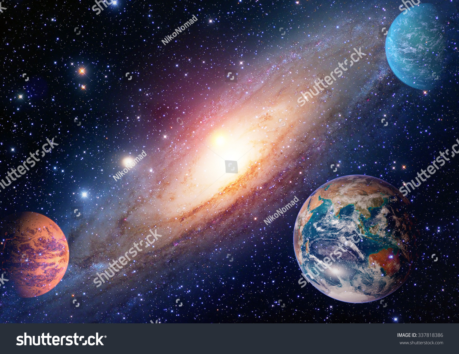 Astrology Astronomy Earth Outer Space Solar Stock Photo ...