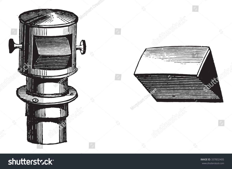Portprism Lens Camera Obscura Designers Vintage Stock Vector Diagram Port Prism And Of The Engraved Illustration Industrial