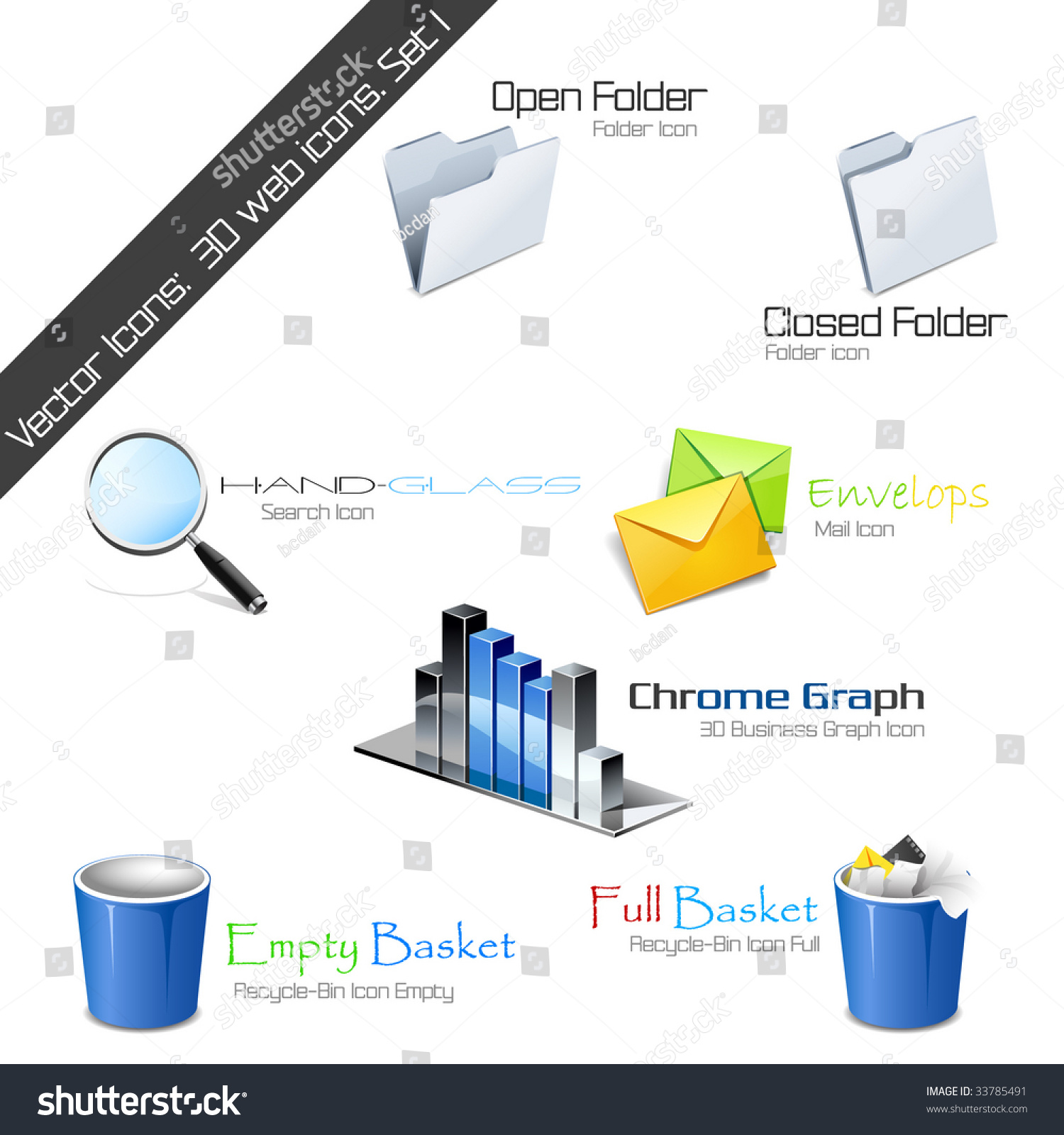 Vector Icons 3d Web Icons Set 1 Please Visit My Gallery