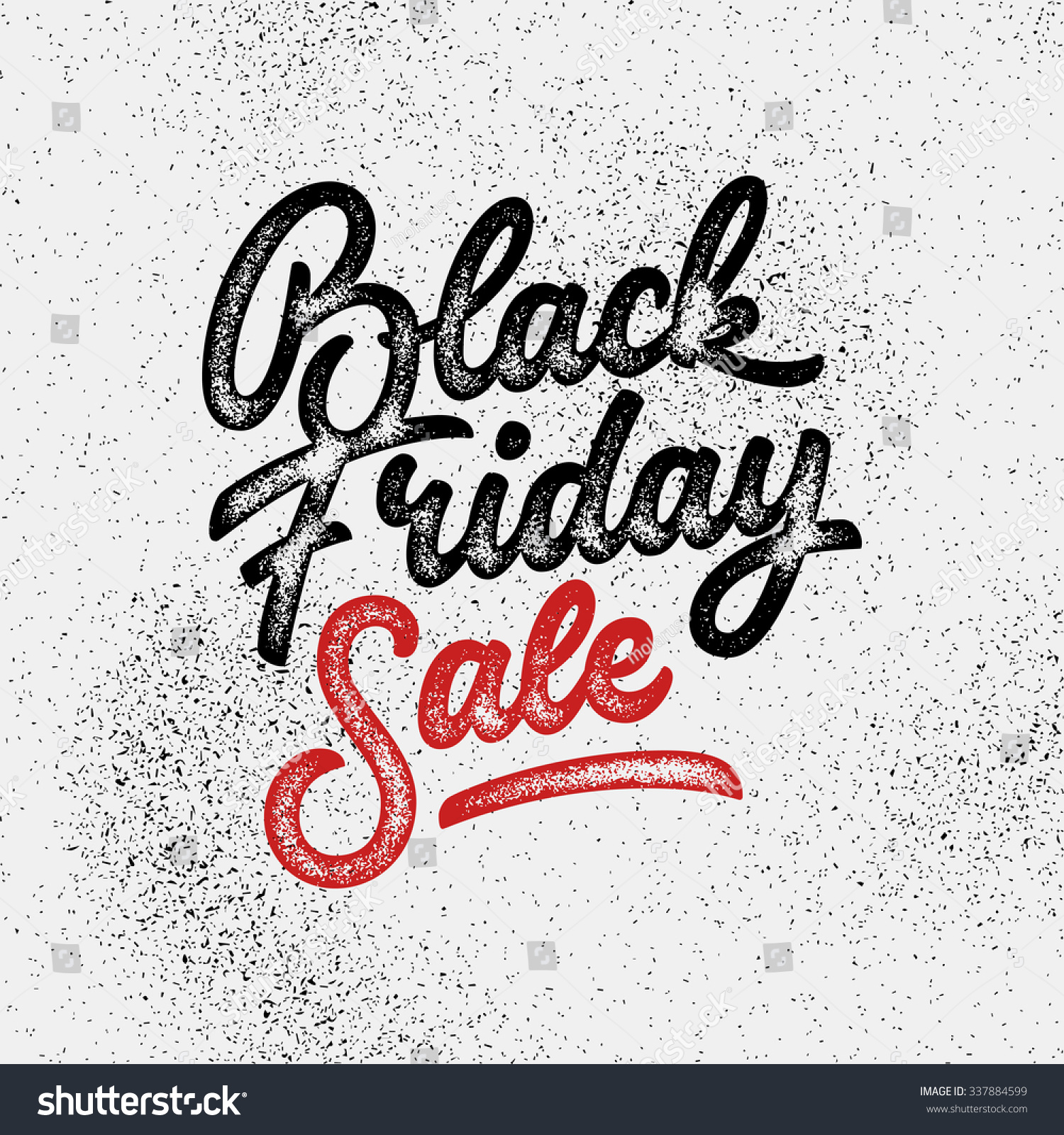 Black Friday Sale Handmade Lettering Calligraphy Stock