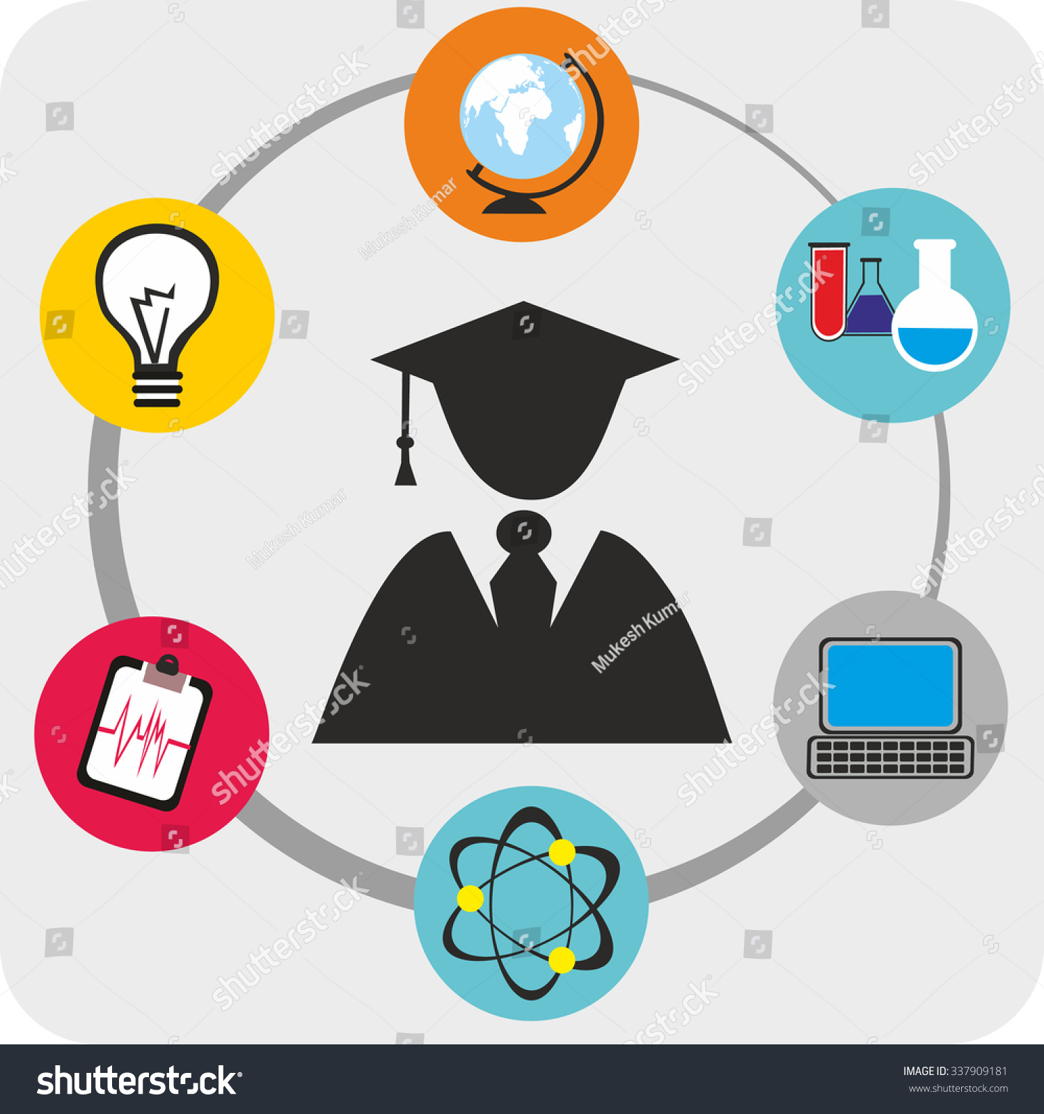 Deciding stock illustrations royalty free gograph - Graduate Student By Education Icons And Career Decision Sign Concept Of Choice Of Future Profession