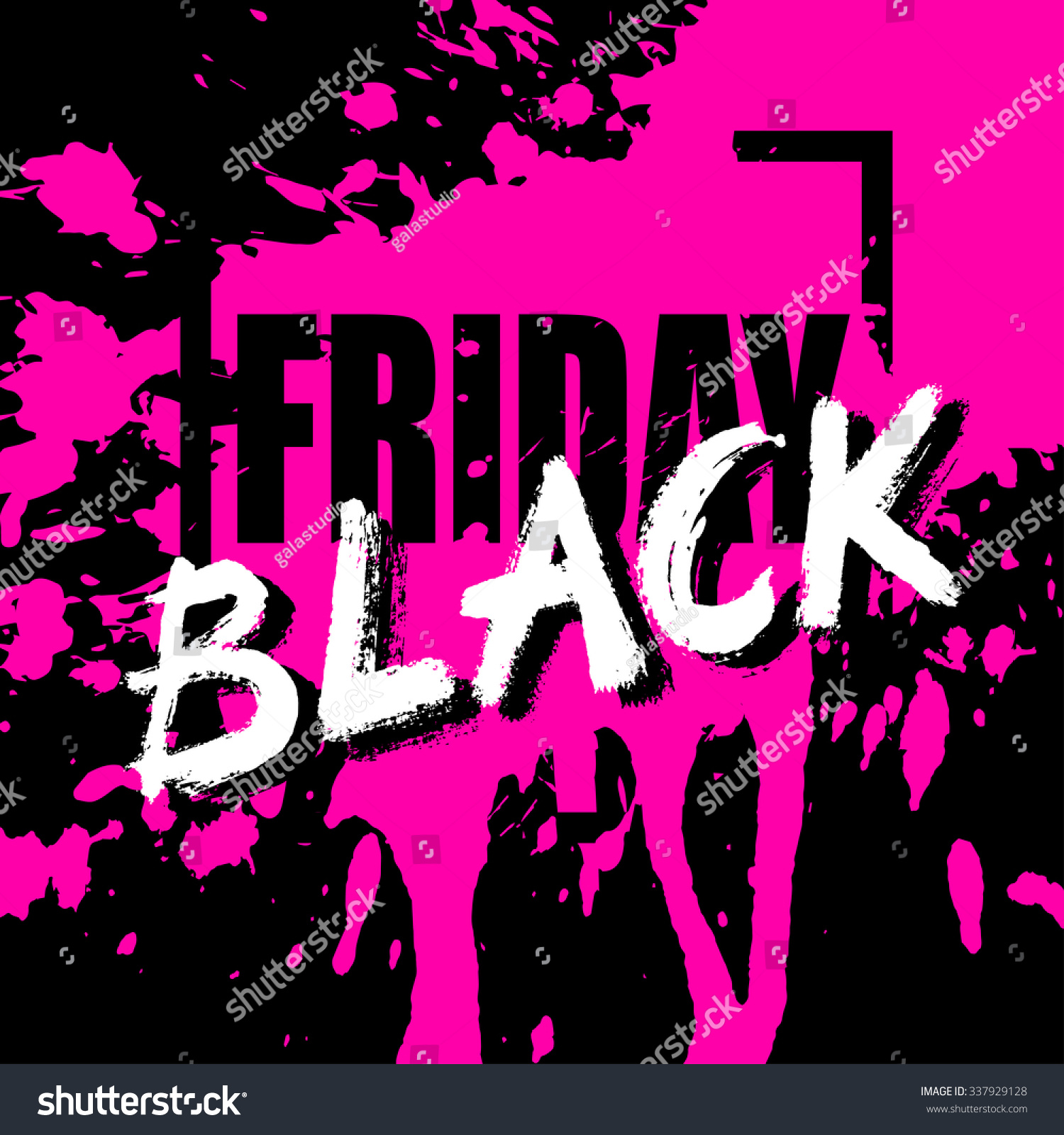 Black Friday Sale Card Banner Perfect Stock Illustration 337929128