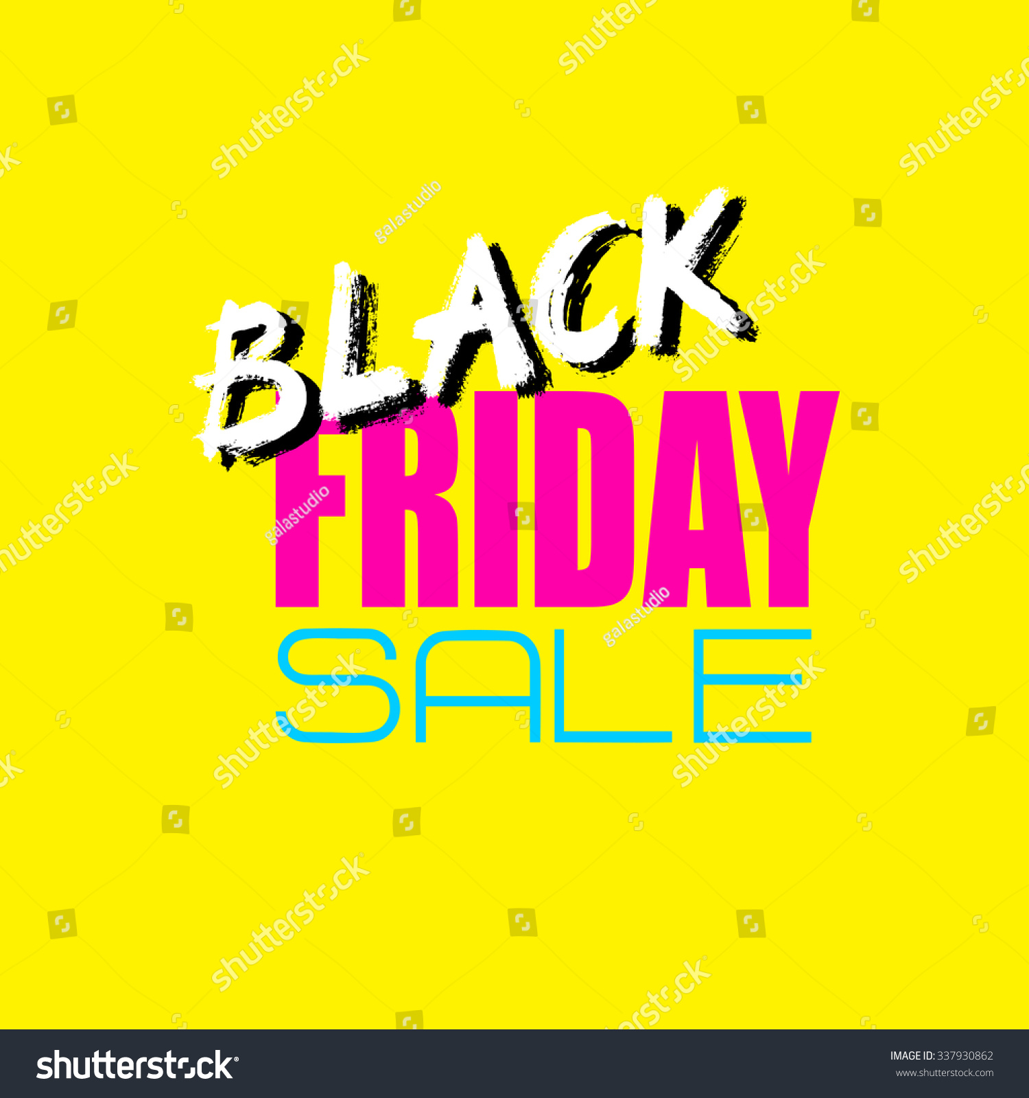 Black Friday Sale Card Banner Perfect Stock Illustration 337930862