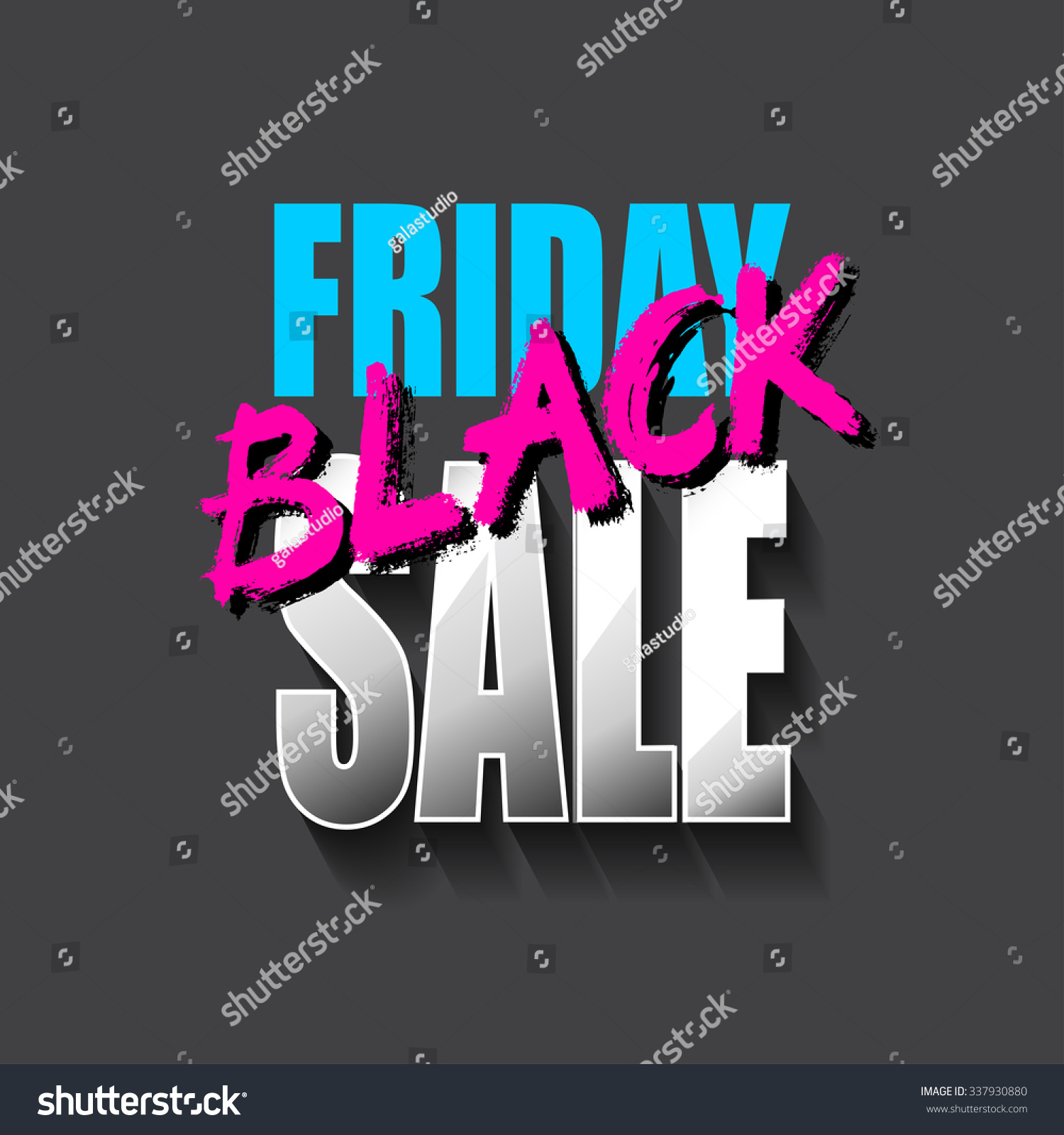 Black Friday Sale Card Banner Perfect Stock Illustration 337930880