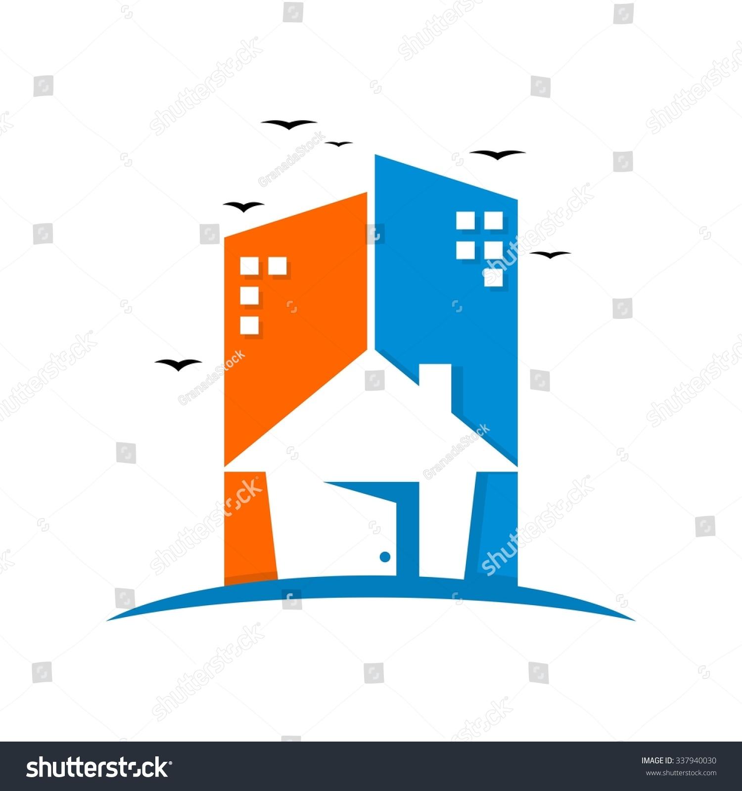 apartment building logo template stock vector 337940030