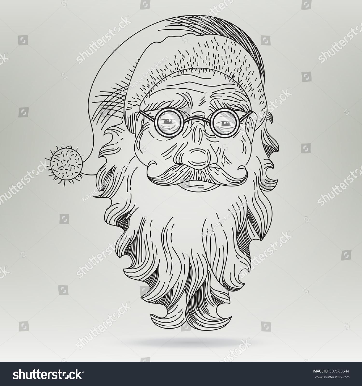 Christmas Card Santa Claus Santa Claus Stock Illustration 337963544 ...
