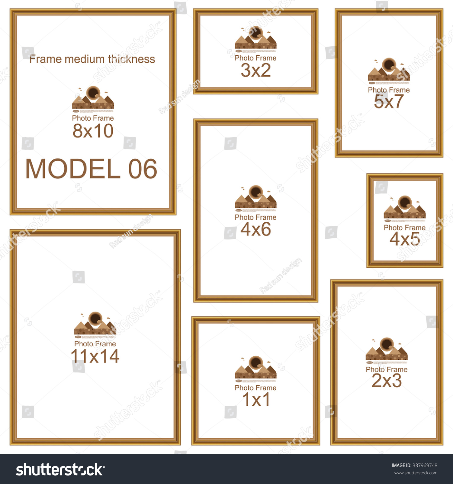Popular picture frame sizes wood border stock vector 337969748 popular picture frame sizes wood border frame for picture or text border for jeuxipadfo Gallery