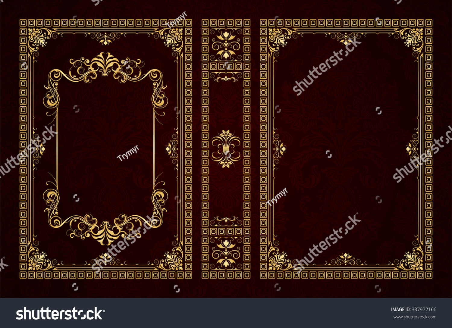 Old Book Cover Vector : Vector classical book cover decorative vintage stock
