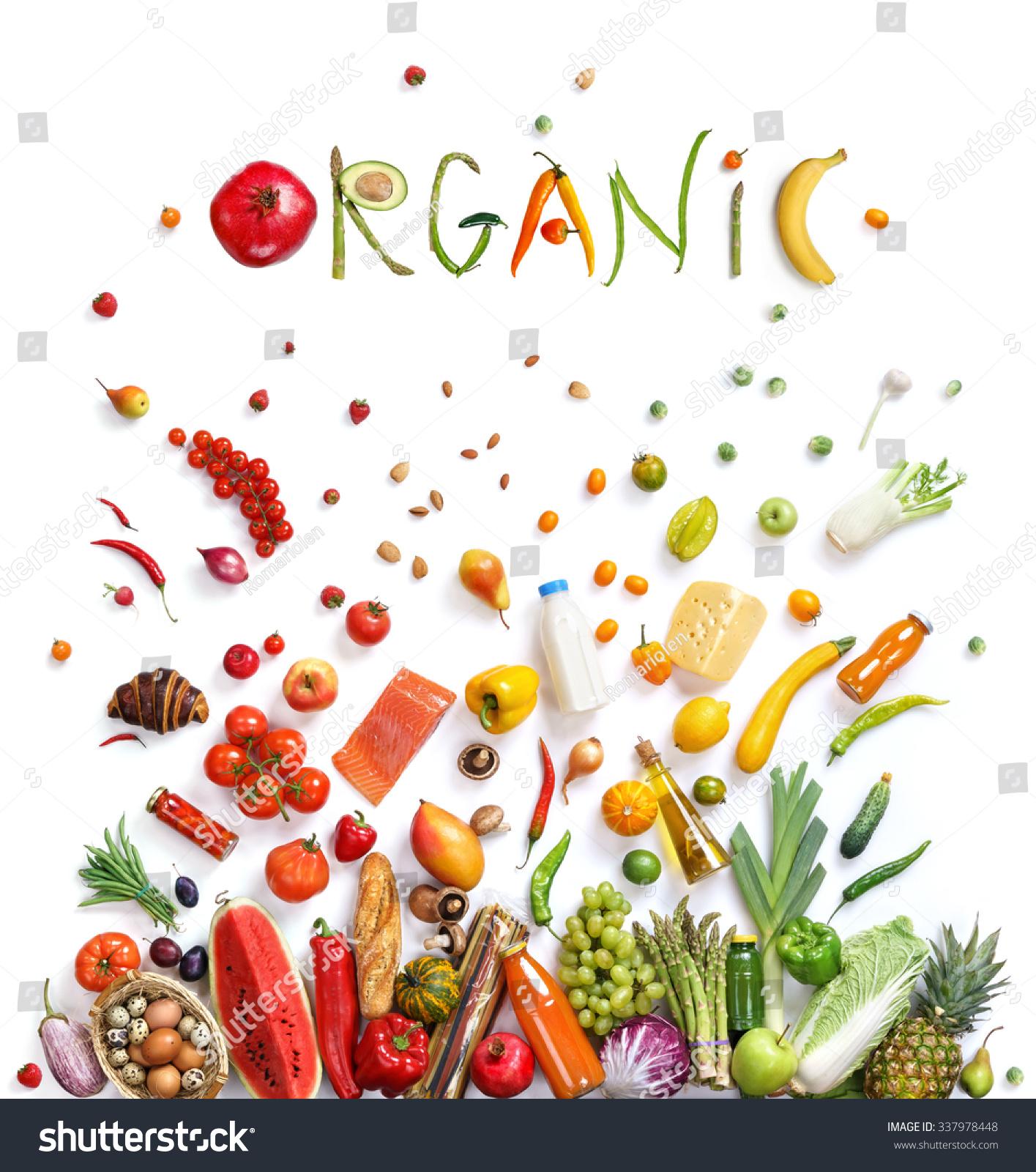 Organic Food Choice Healthy Food Symbol Stock Photo ...