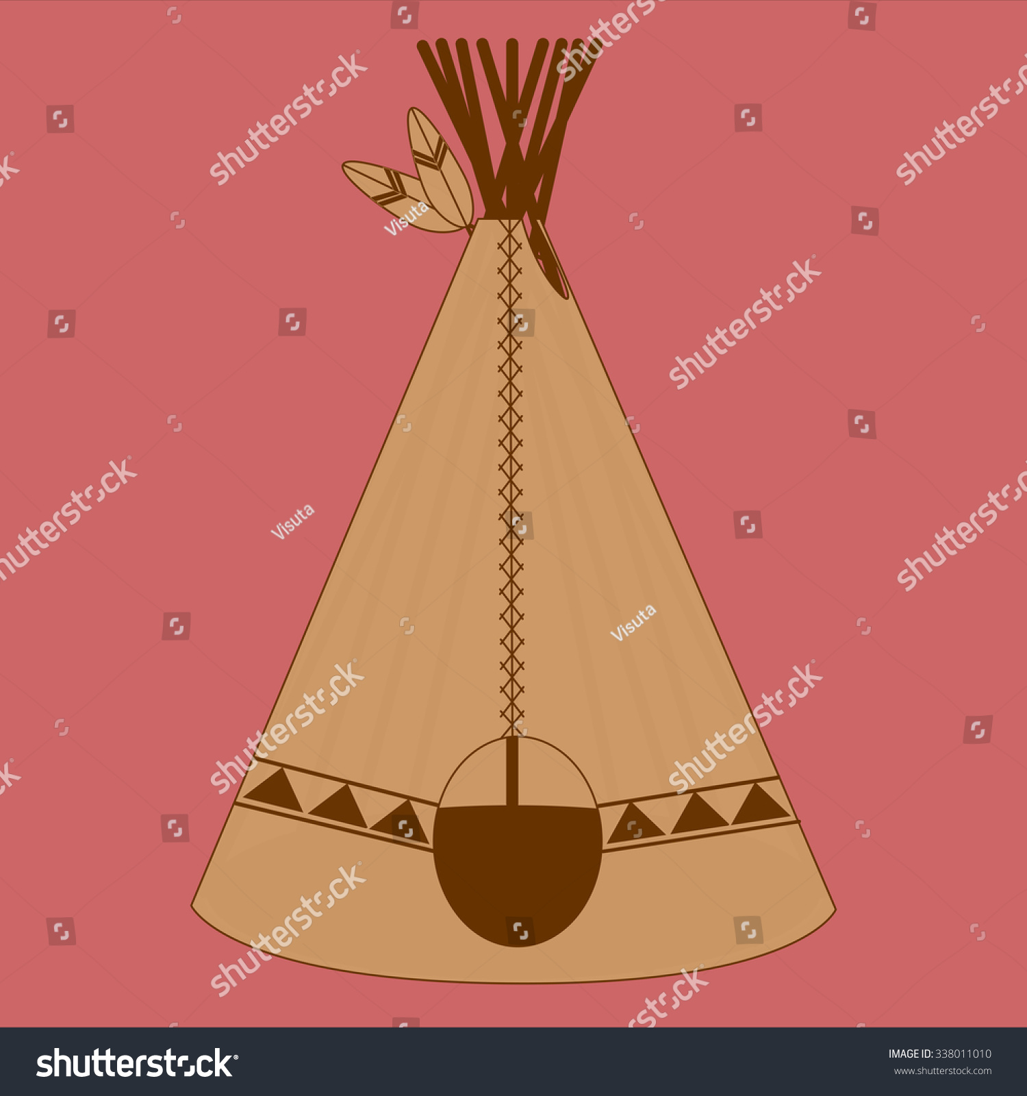 Indians Tent  sc 1 st  Shutterstock & Indians Tent Stock Illustration 338011010 - Shutterstock