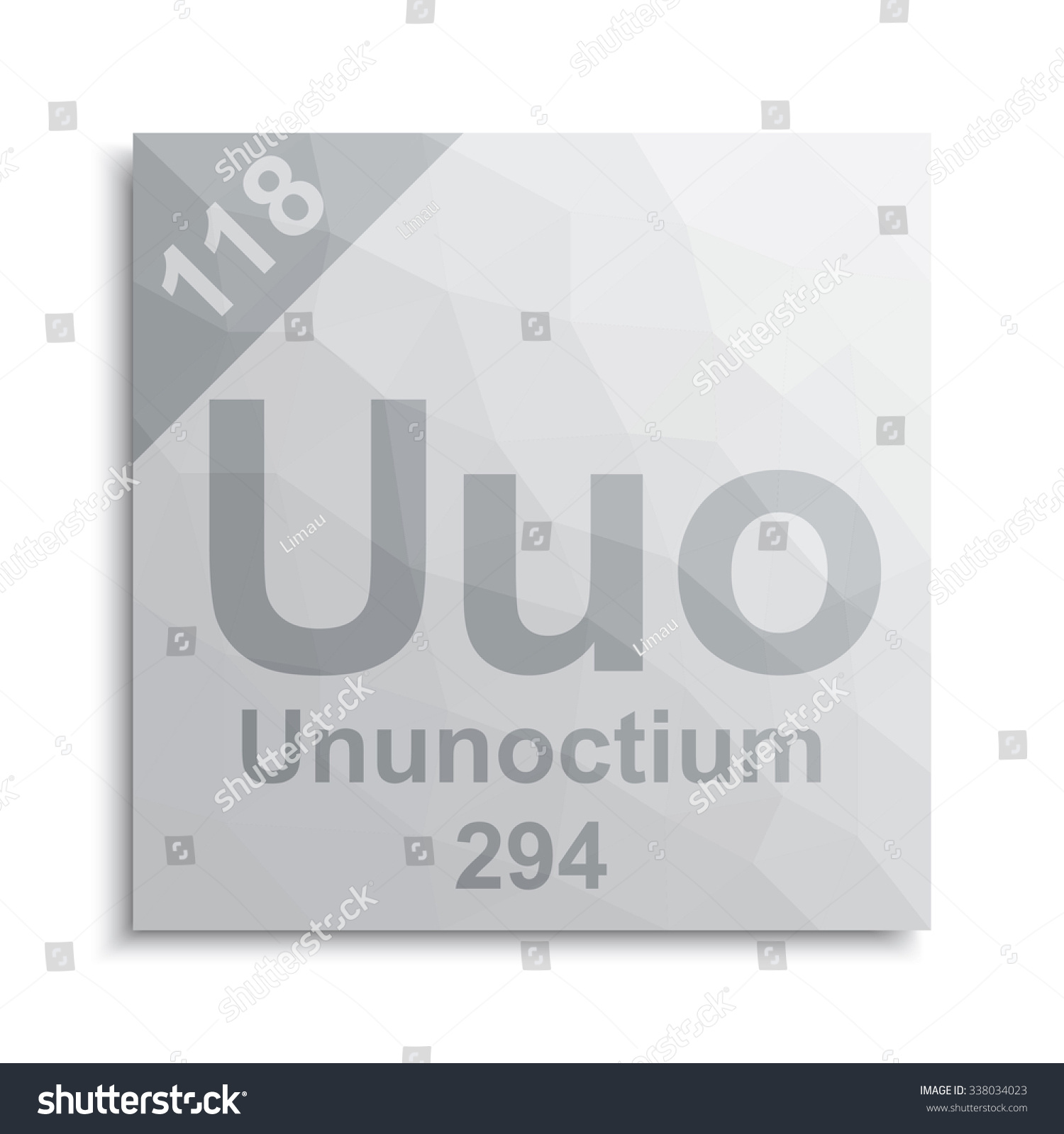 Ununoctium element periodic table stock vector 338034023 shutterstock urtaz Images