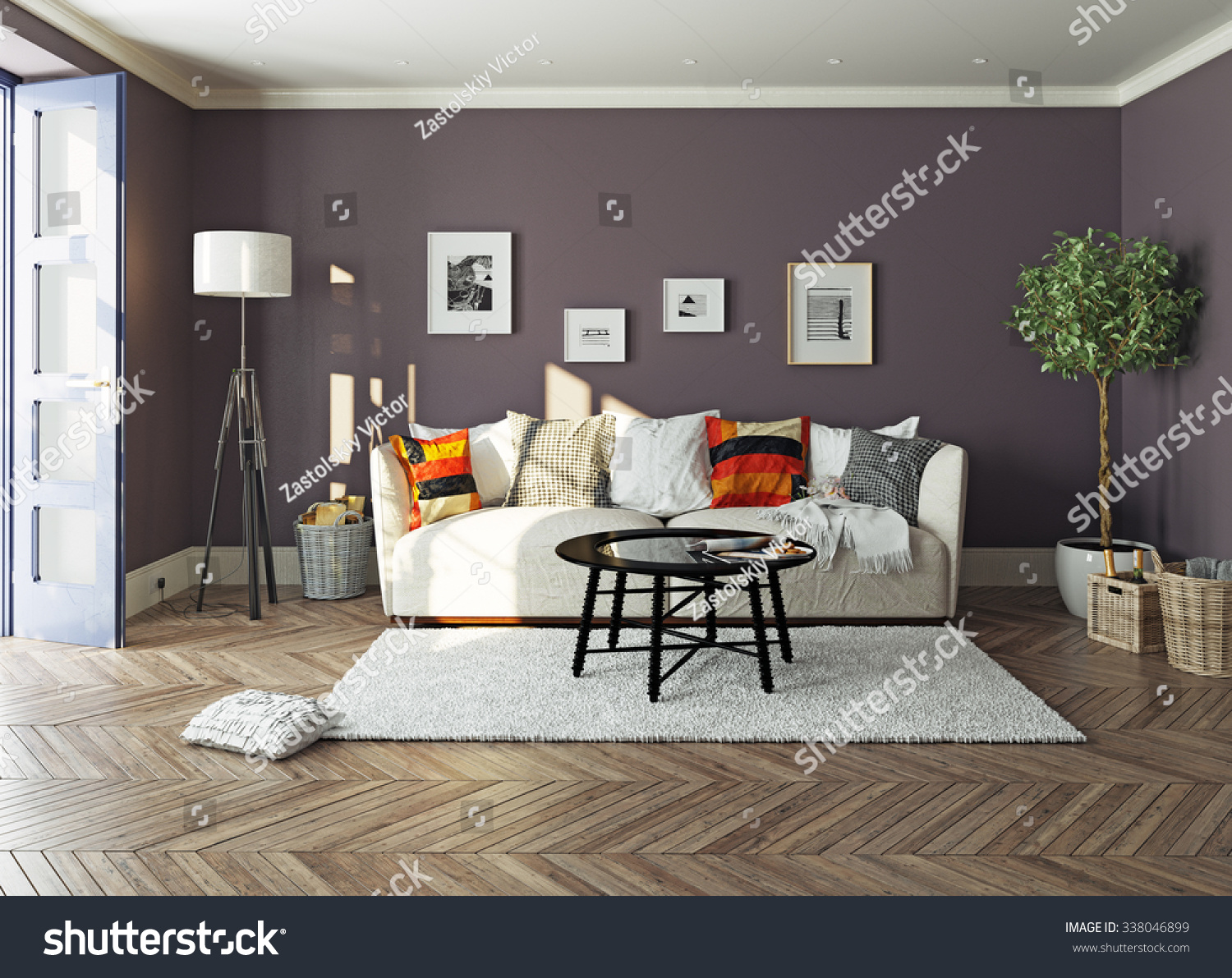 Modern living room interior3d design concept stock for Apartment design concept