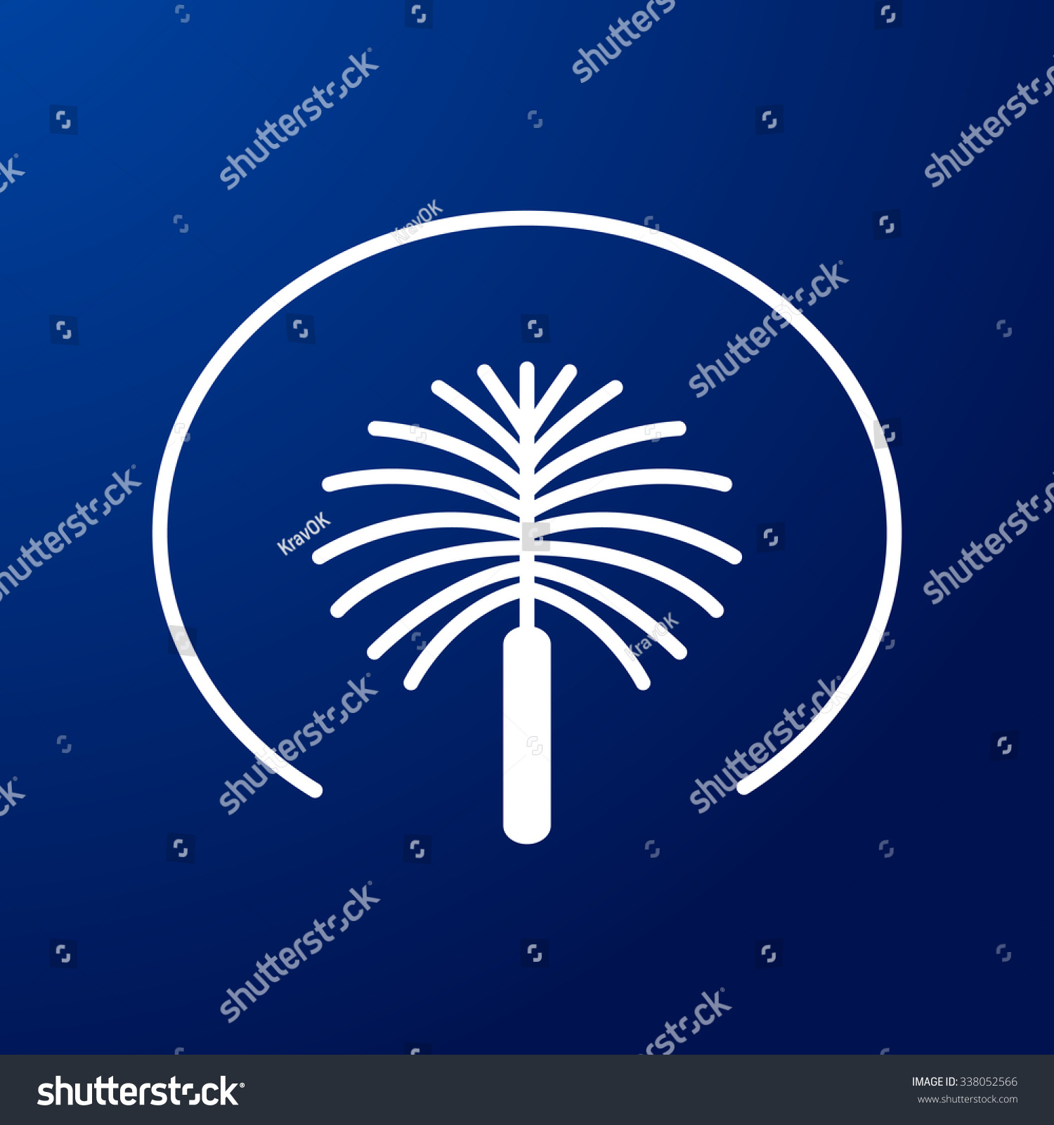 Palm Jumeirah United Arab Emirates Symbol Stock Vector Royalty Free