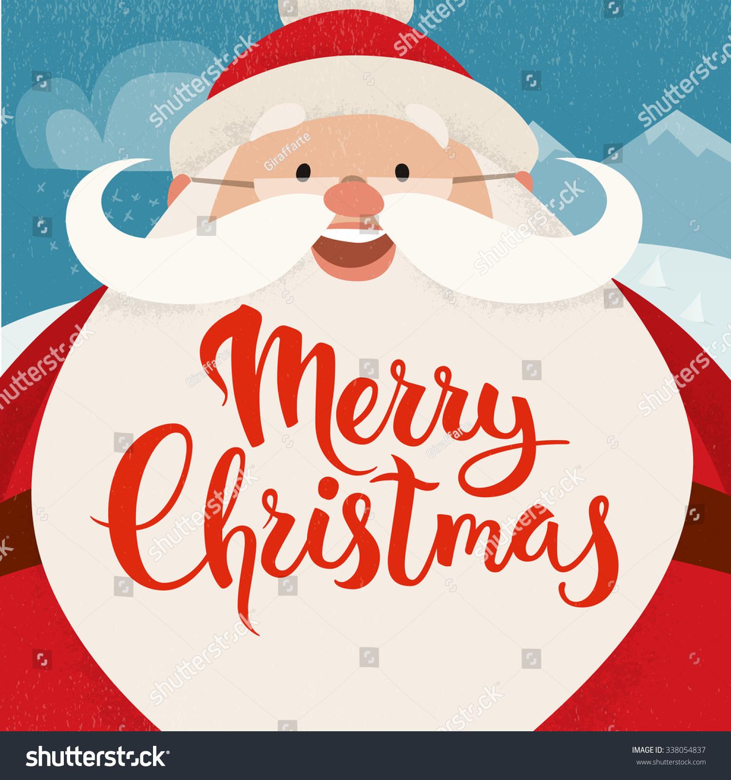 Merry Christmas Vector Card Funny Christmas Stock Vector Royalty