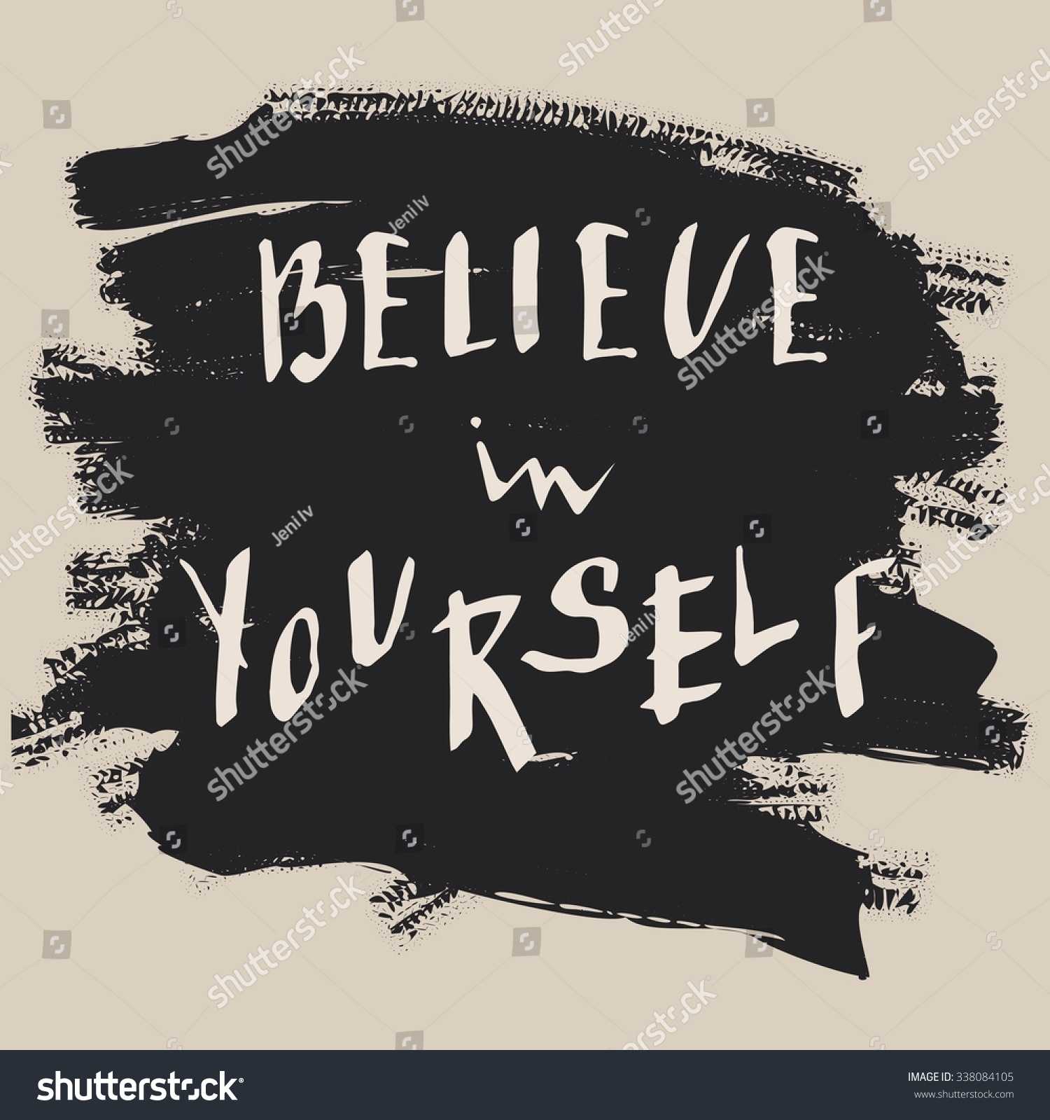 Design poster yourself - Believe In Yourself T Shirt Design Handdrawn Lettering Hand Print Letters