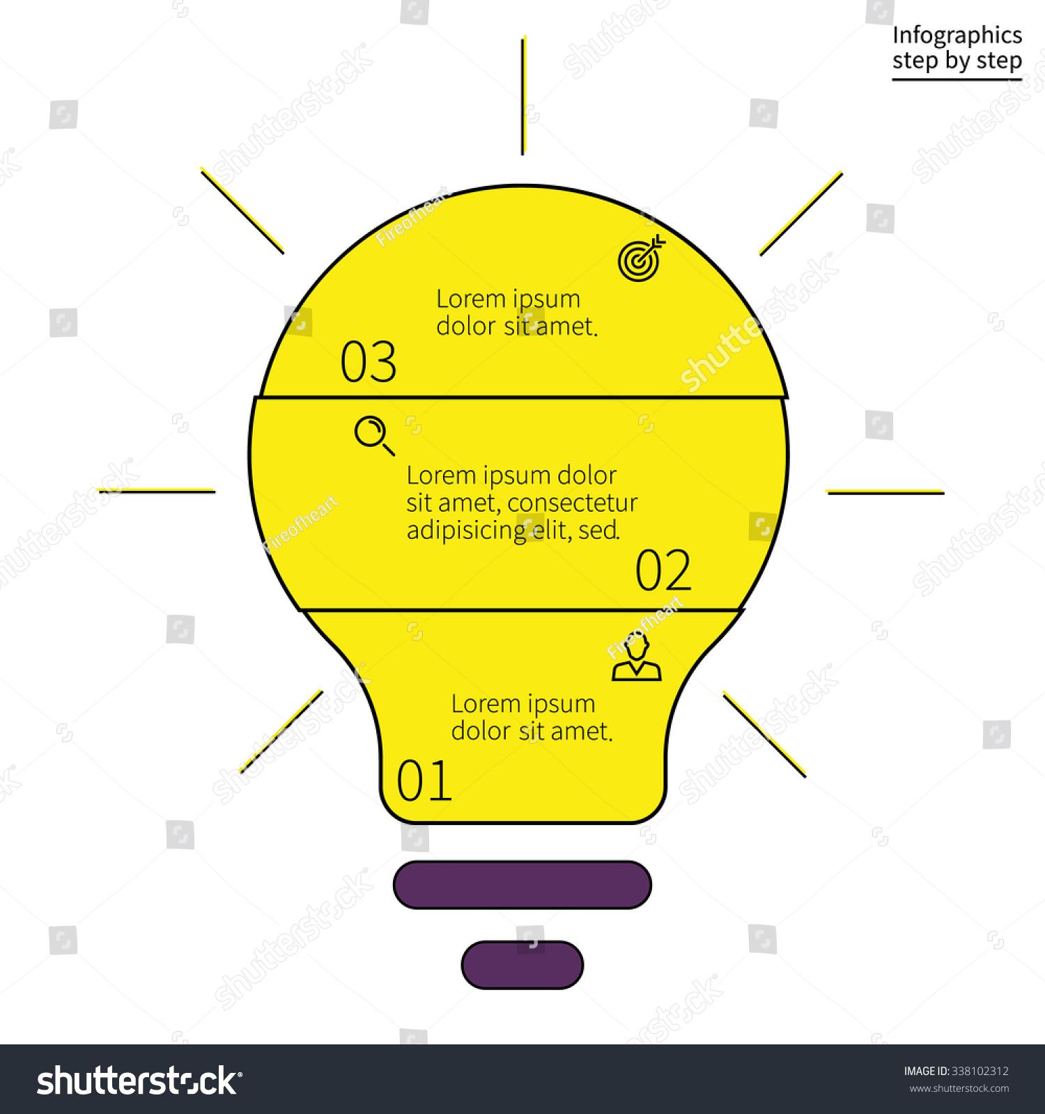 outline infographics step by step form stock vector 338102312 shutterstock. Black Bedroom Furniture Sets. Home Design Ideas