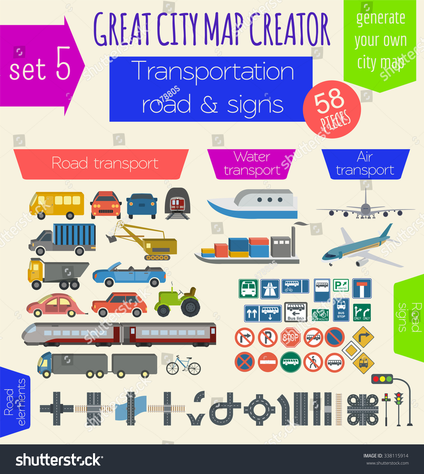 Great city map creator house constructor stock vector for House map creator