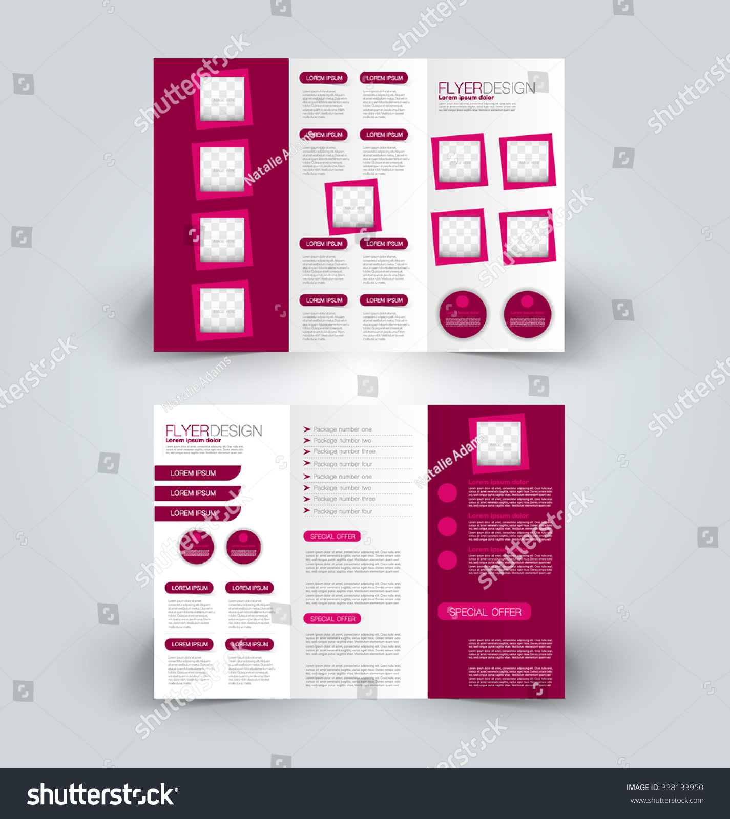 brochure design template abstract background business stock vector