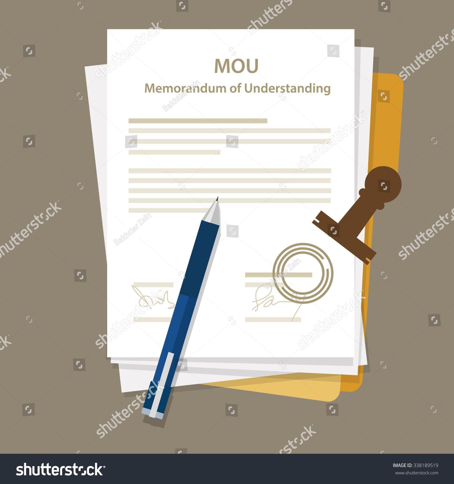 mou memorandum understanding legal document agreement stock vector mou memorandum of understanding legal document agreement stamp seal
