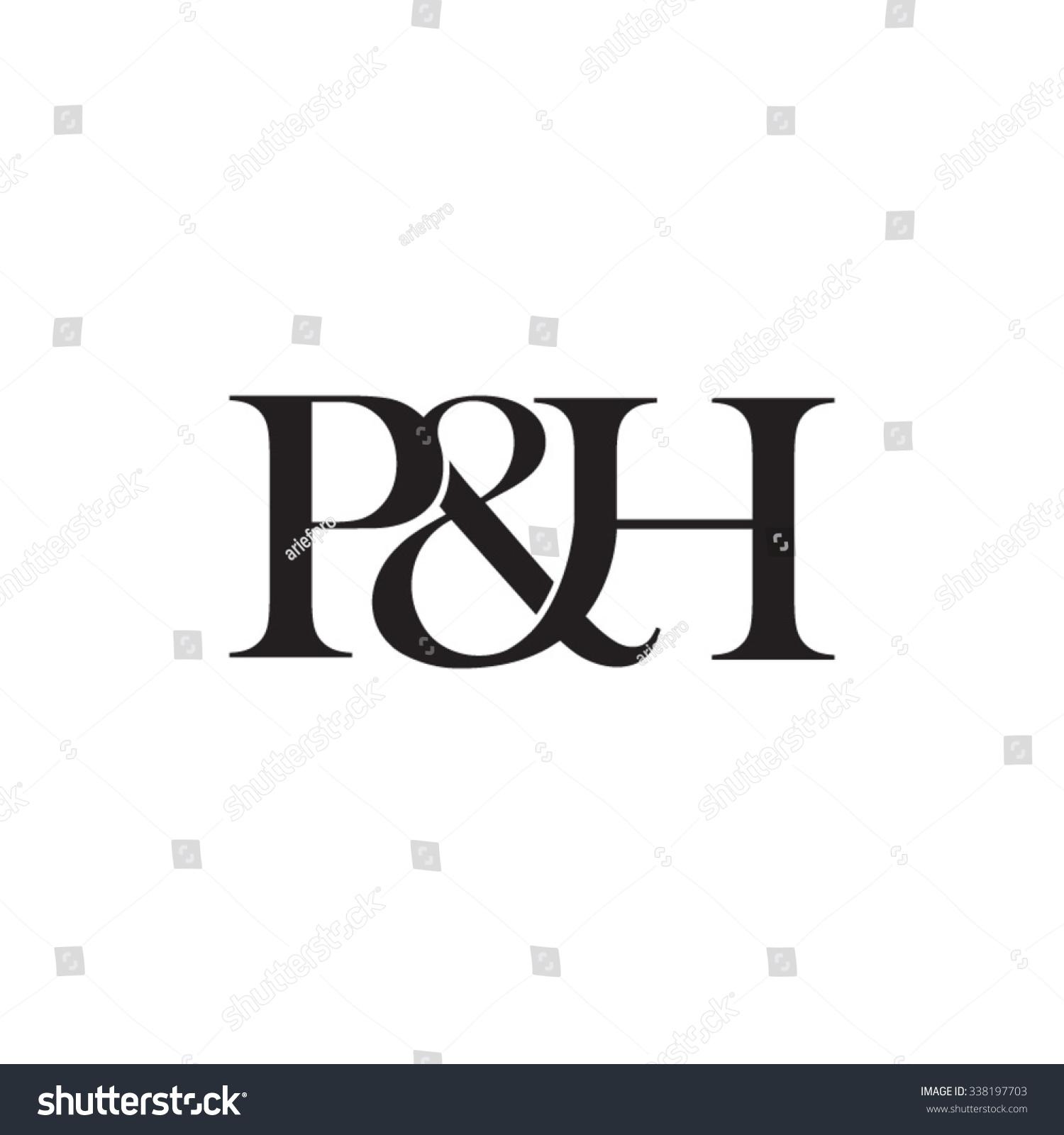 Ph Initial Logo Ampersand Monogram Logo Stock Vector Royalty Free 338197703