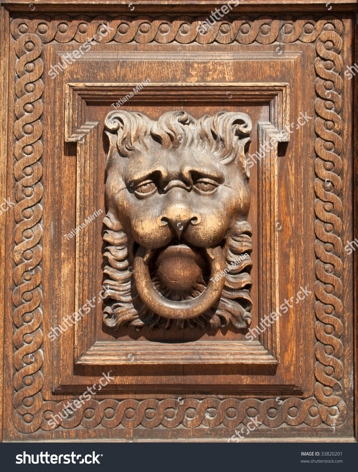 Fragment of woodcarving door in prague stock photo for Door z prague