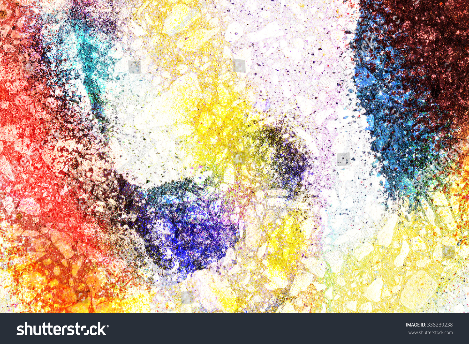 The walls are painted in various colorful bright colors | EZ Canvas