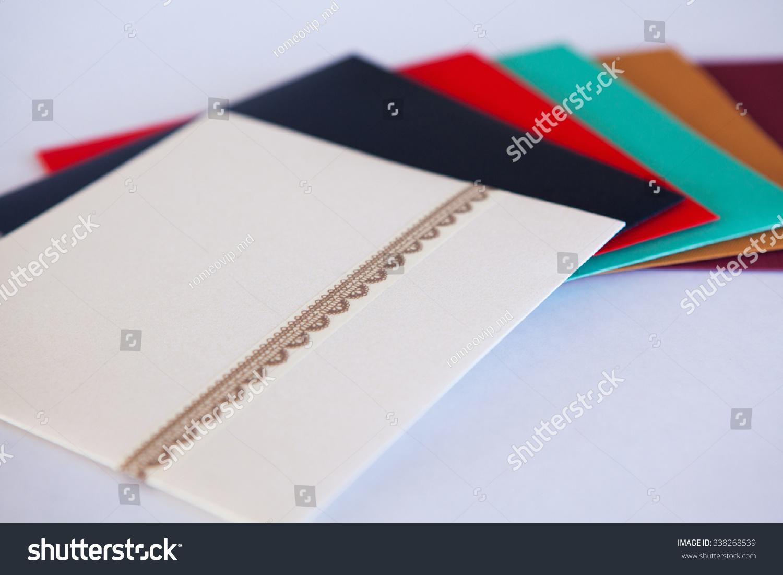 Wedding Invitation Cards Handmade Wedding Invitations Made Stock ...