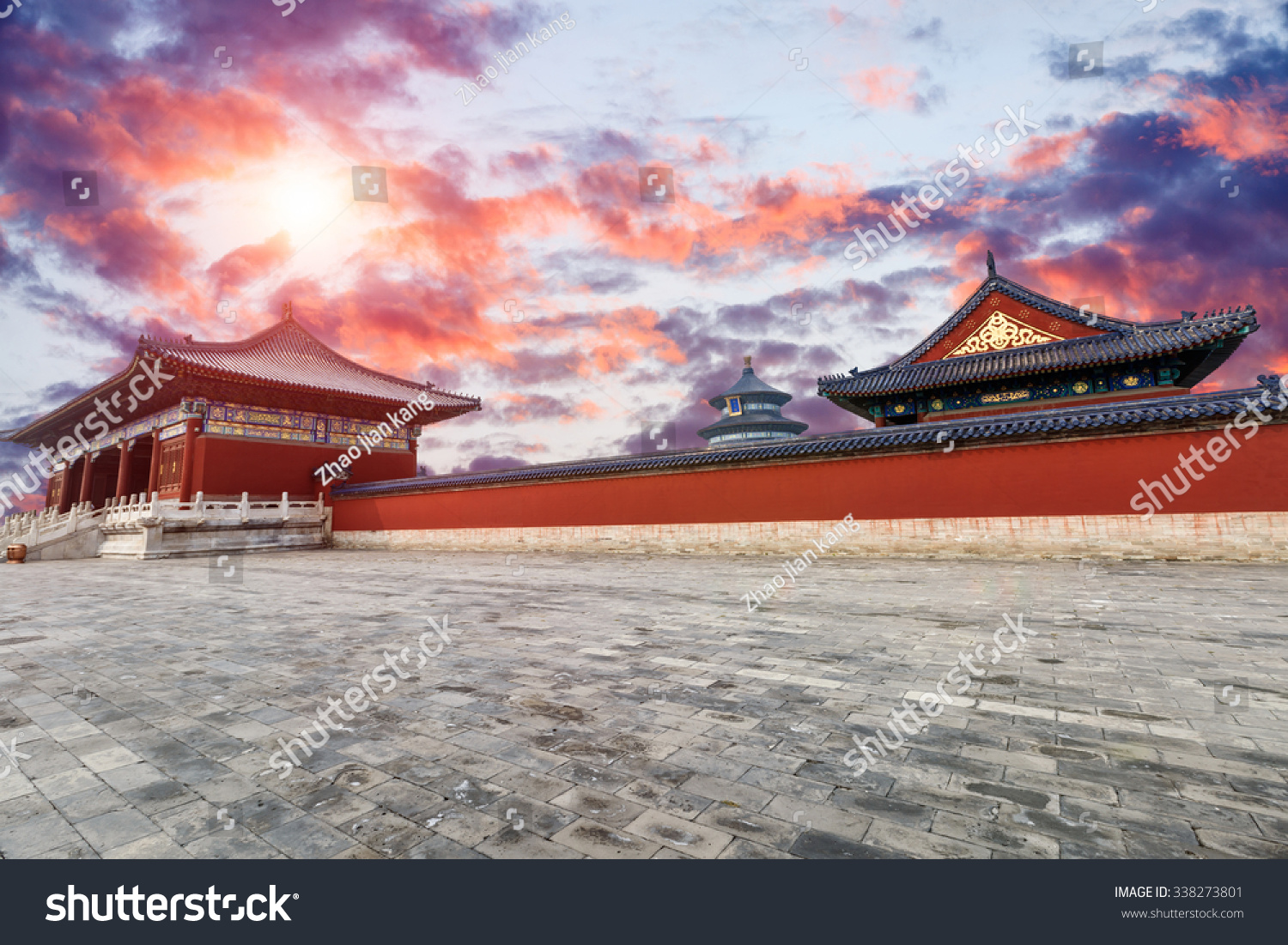Temple Heaven Beijing China Chinese Symbol Stock Photo Edit Now