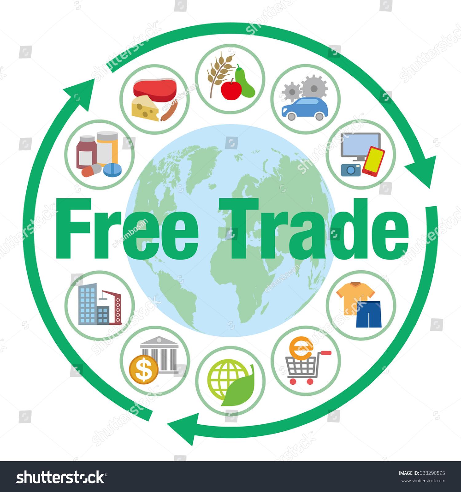 نتيجة الصورة للتجارة الحرة