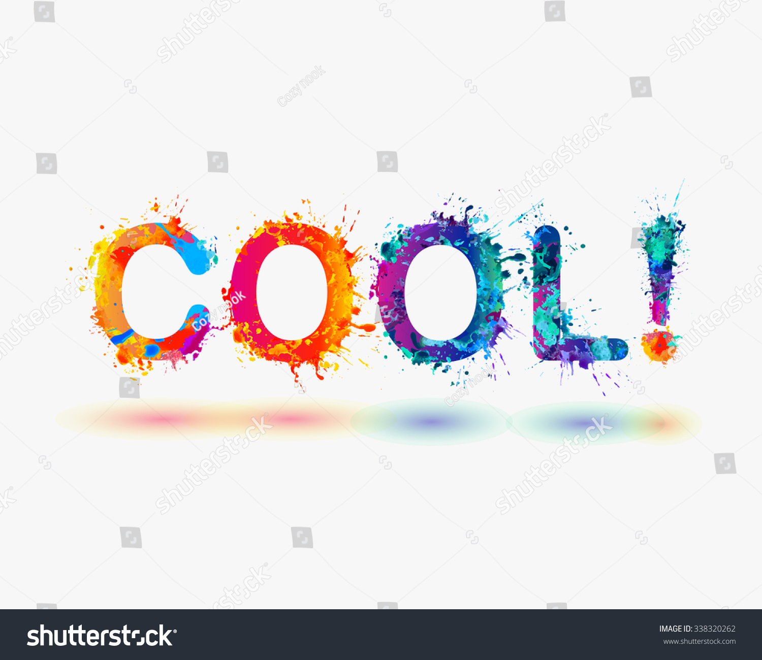 word cool rainbow splash paint stock vector royalty free 338320262
