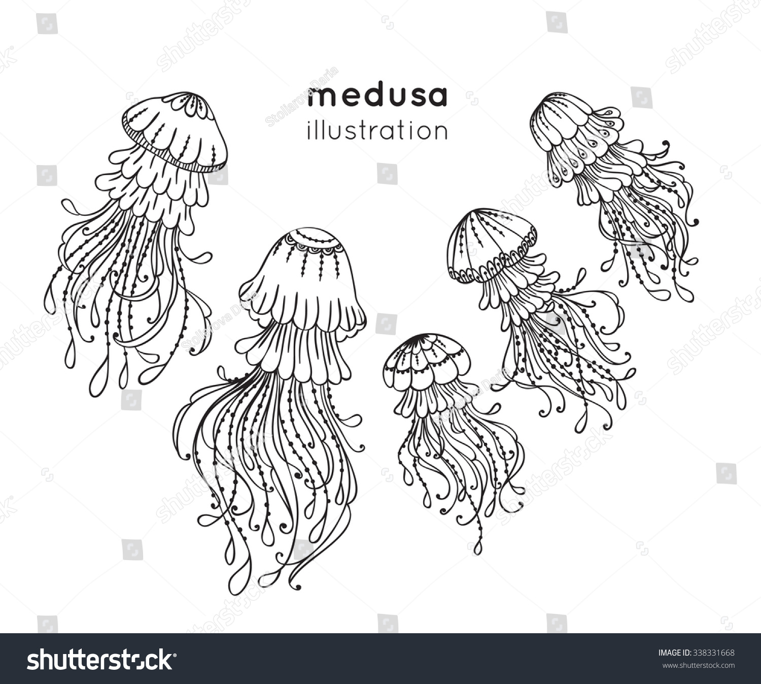 Jellyfish outline