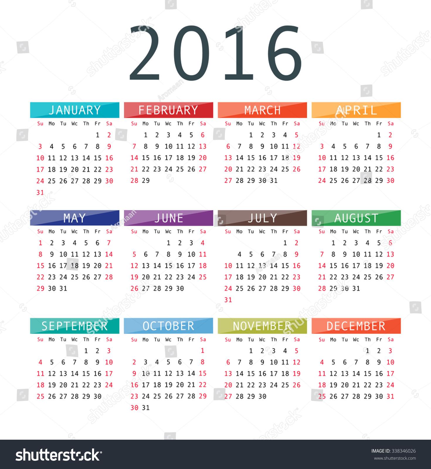 Calendar Design Eps : Vector calendar grid rigorous design stock