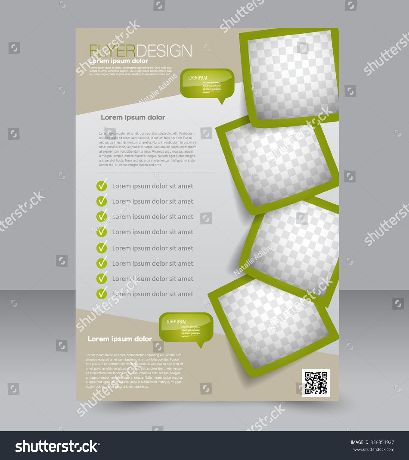 ... Magazine Cover. Green Color. Stock Vector Illustration 338354927