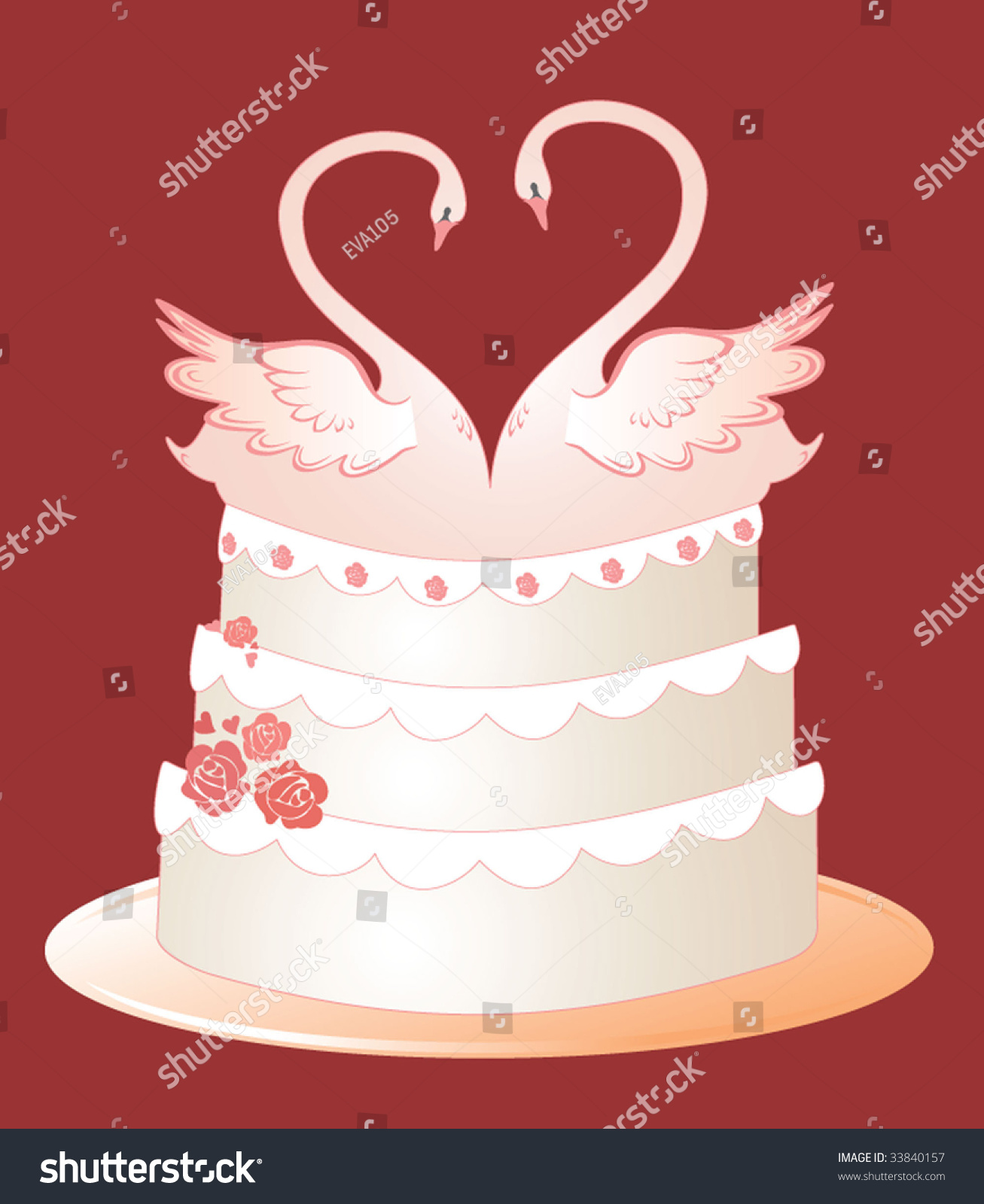 wedding cake vector wedding cake stock vector illustration 33840157 26758