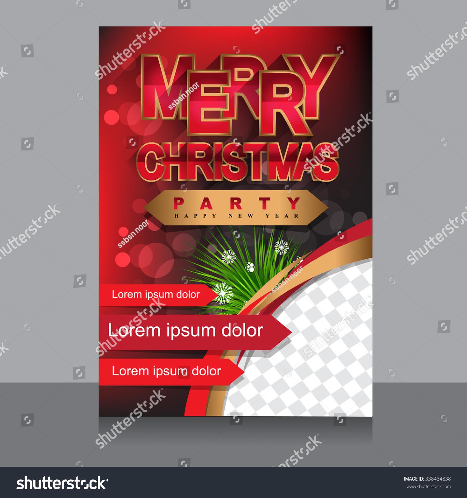 christmas brochure template