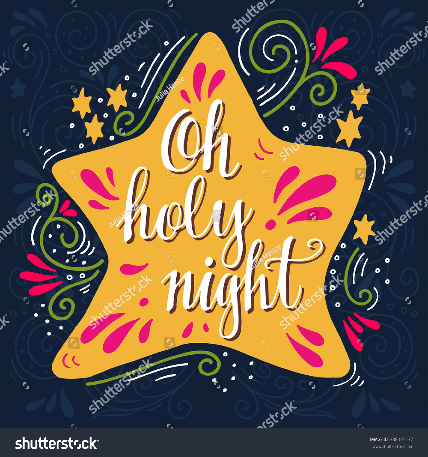 Download Holiday Nazareth Stock Vector Oh Holy Night Winter Holiday Saying