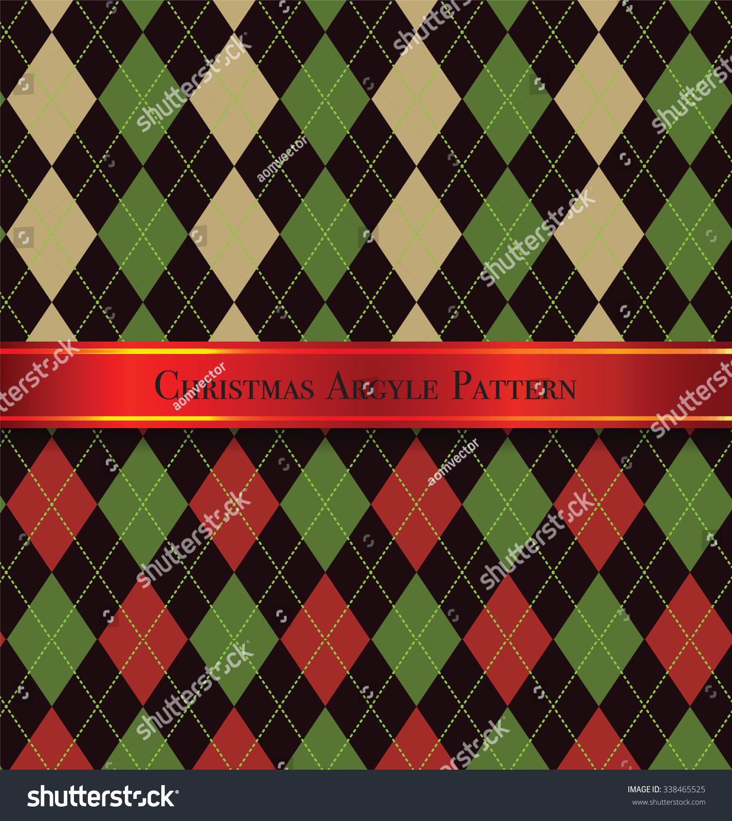 Pics photos merry christmas argyle twitter backgrounds - Christmas Argyle Pattern Design Set 5