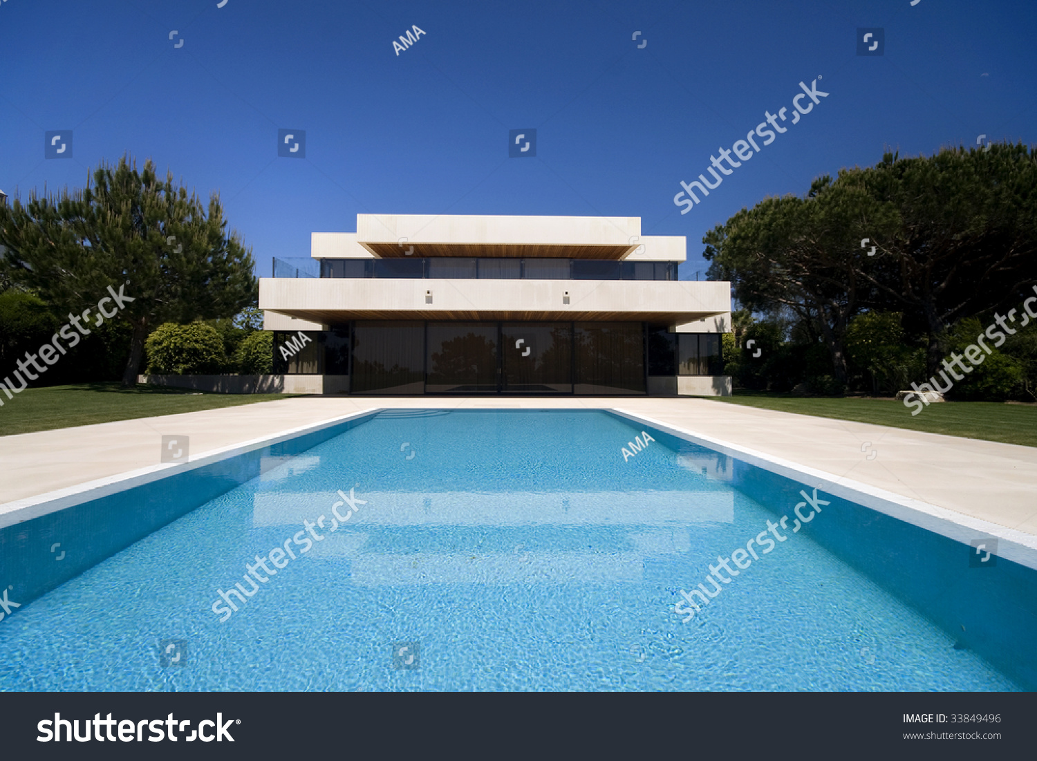 A Luxury Modern House With A Big Swimmingpool  Lifestyle .