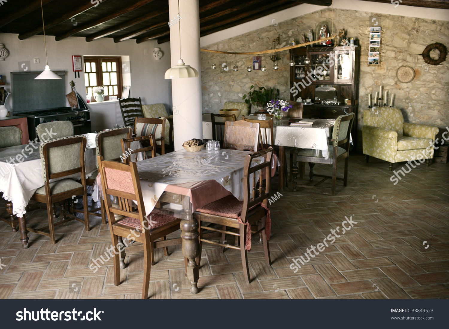 Old Style Living Room Countryside Tourism Living Room Old Style Stock Photo 33849523