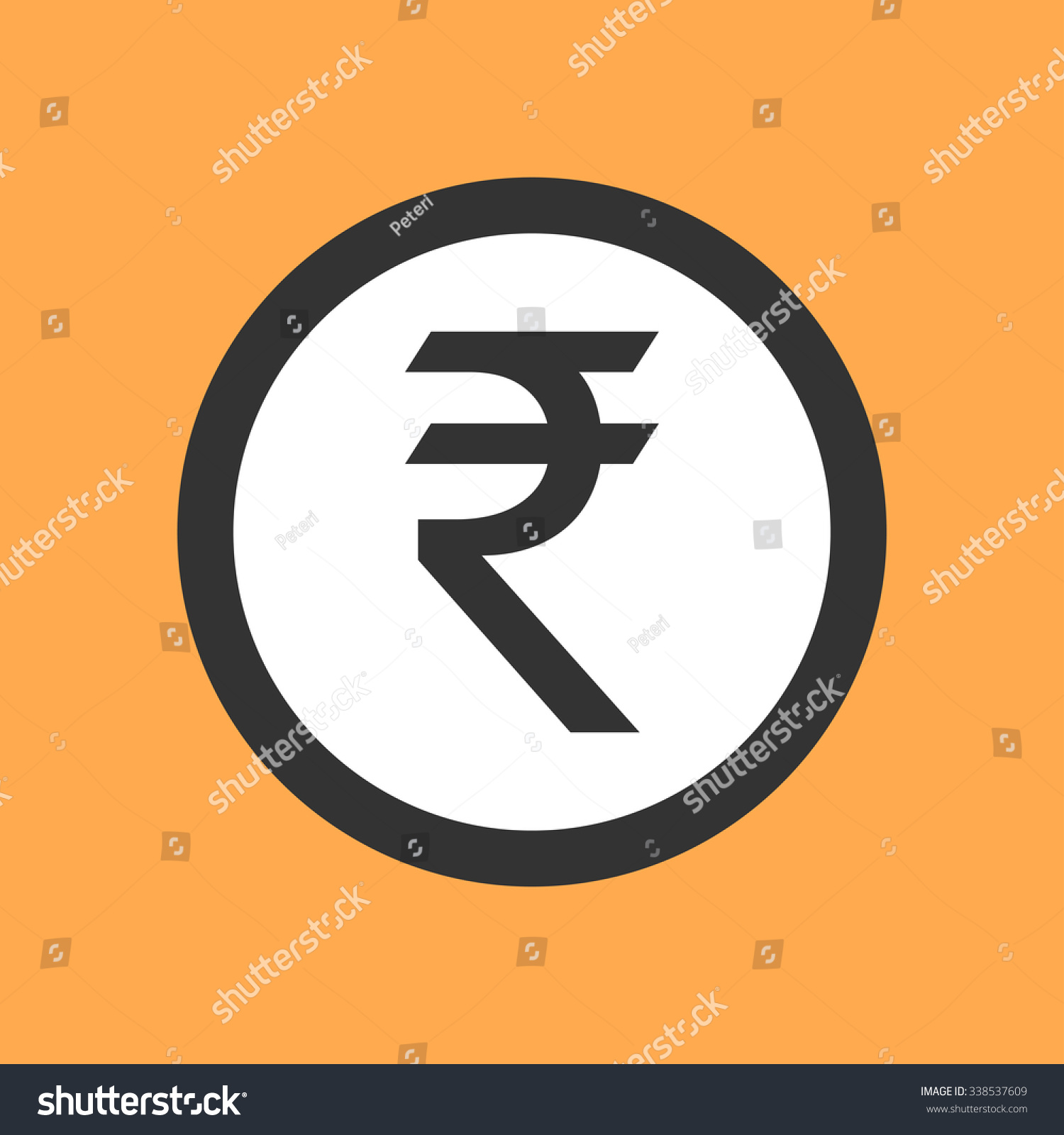 Indian rupee symbol flat design stock vector 338537609 shutterstock indian rupee symbol in flat design buycottarizona