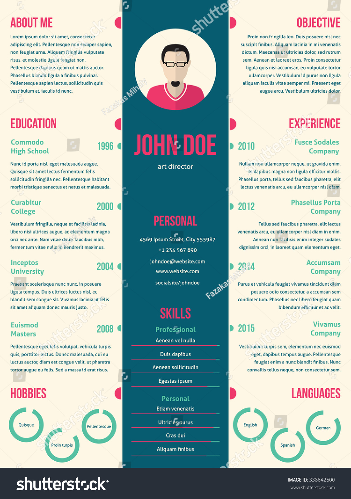 modern cv resume design blue