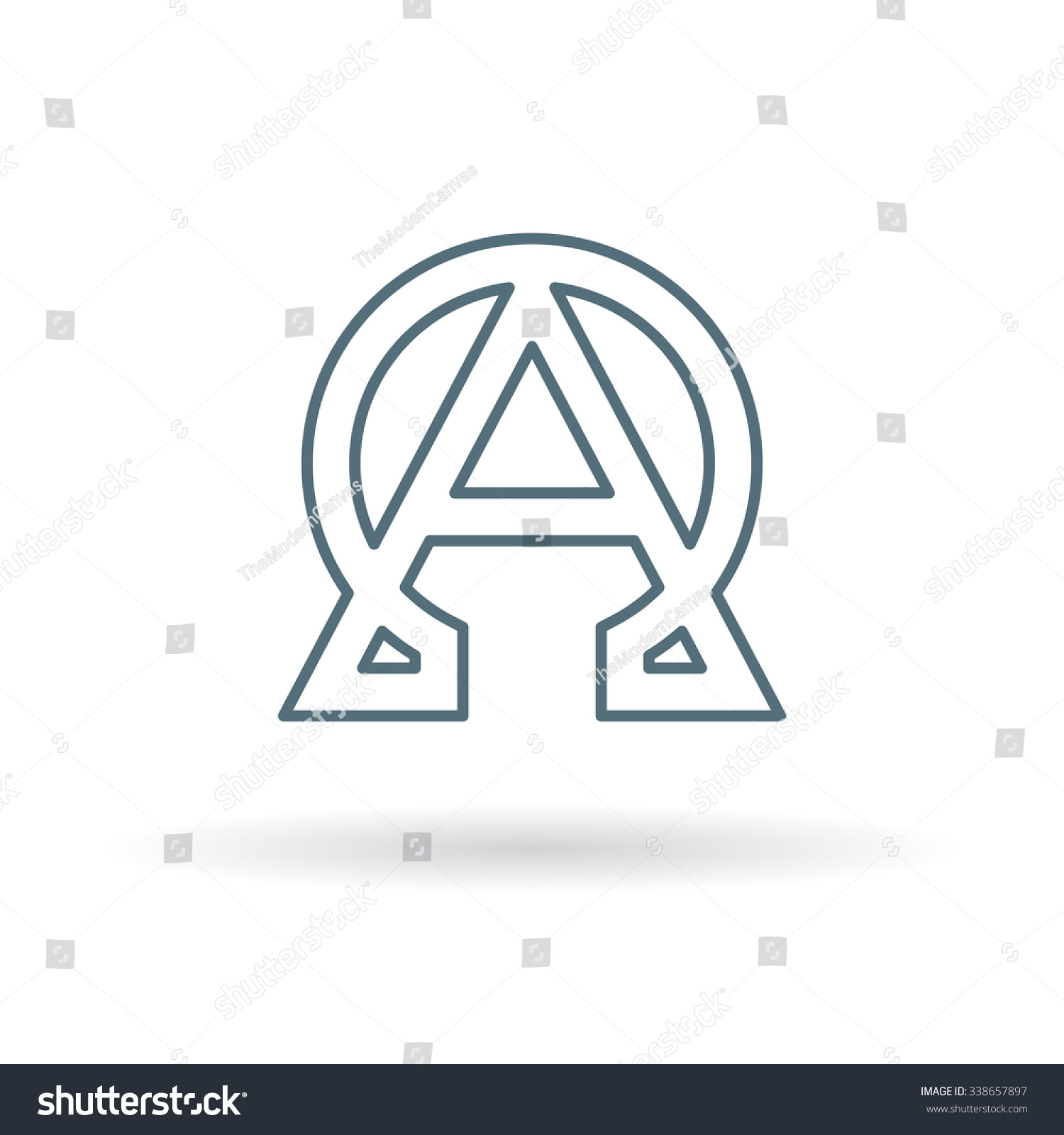 Alpha Omega Icon Beginning End Sign Stock Vector Royalty Free