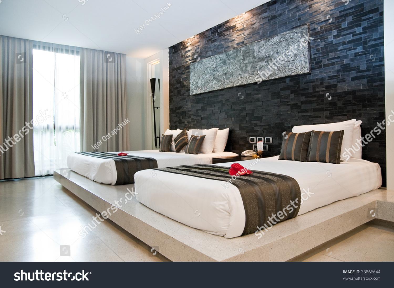 Sleeping room in a hotel. Sleeping Room Hotel Stock Photo 33866644   Shutterstock