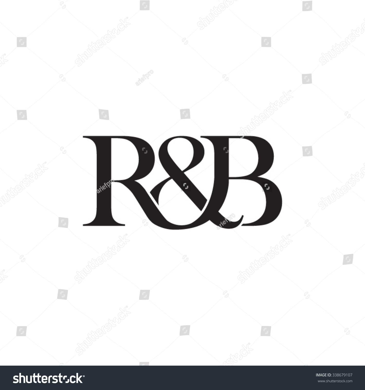 rb initial logo ampersand monogram logo stock vector 338679107 shutterstock. Black Bedroom Furniture Sets. Home Design Ideas