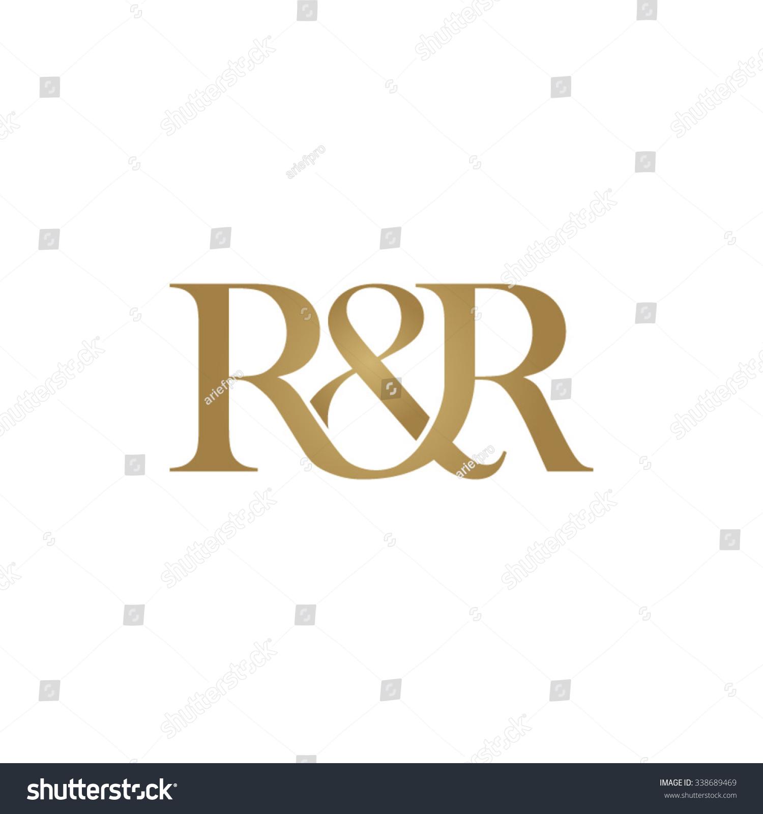 R Amp R Initial Logo Ampersand Monogram Logo Stock Vector