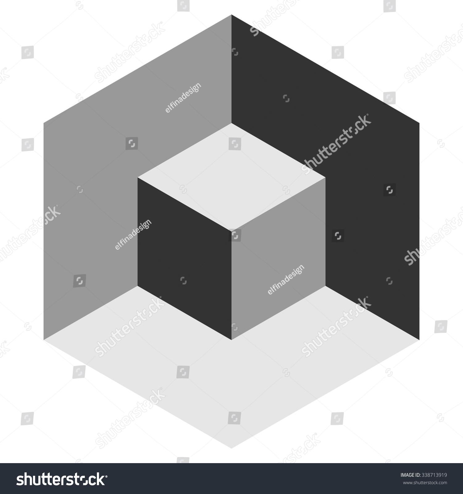 Vasarely Cube Shades Grey Logo Design Stock Vector 338713919 ...