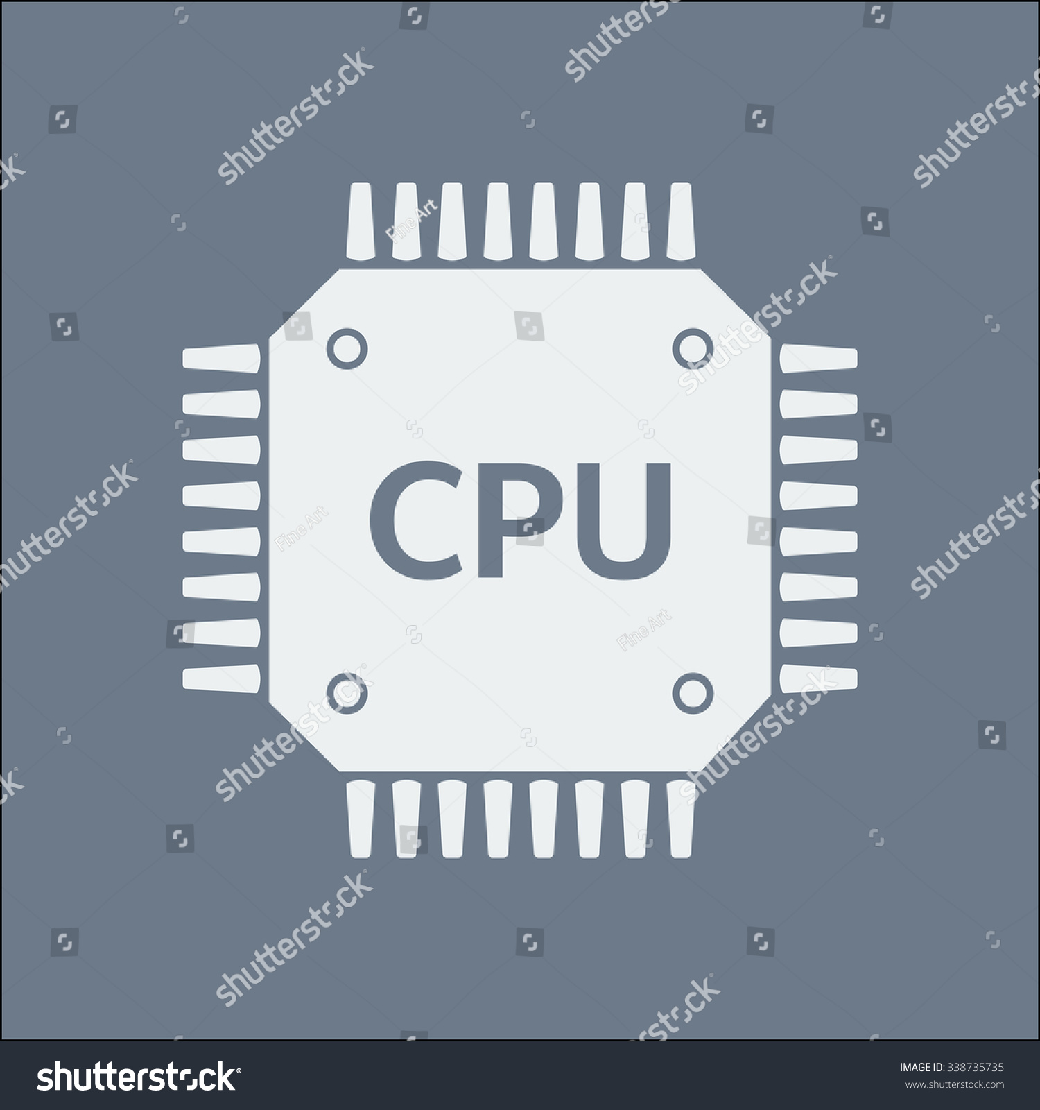 Circuit Board Icon Technology Scheme Square Stock Vector Royalty Electronic Symbols Symbol Flat Design Style
