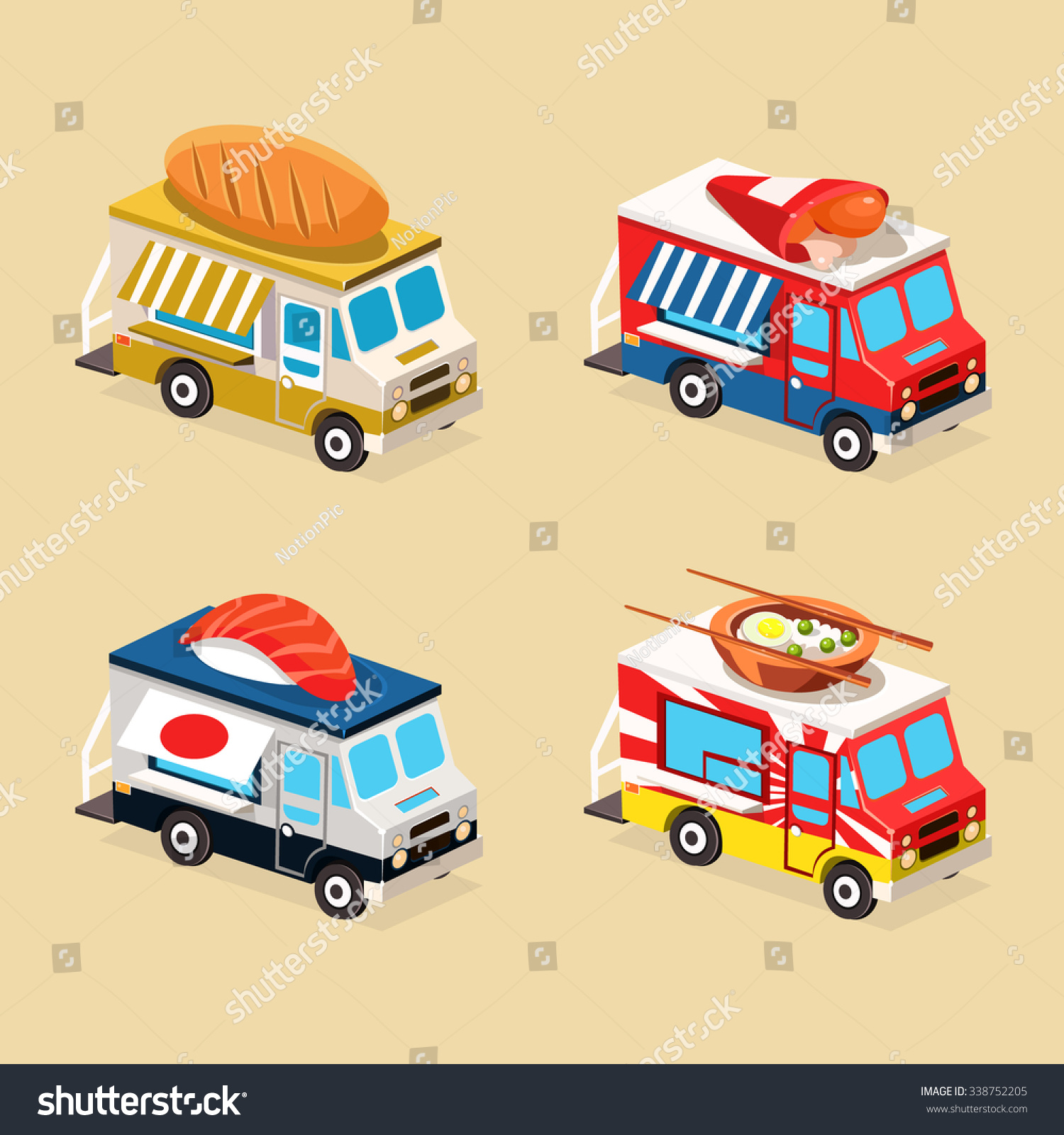 Drawing Food Truck Bakery