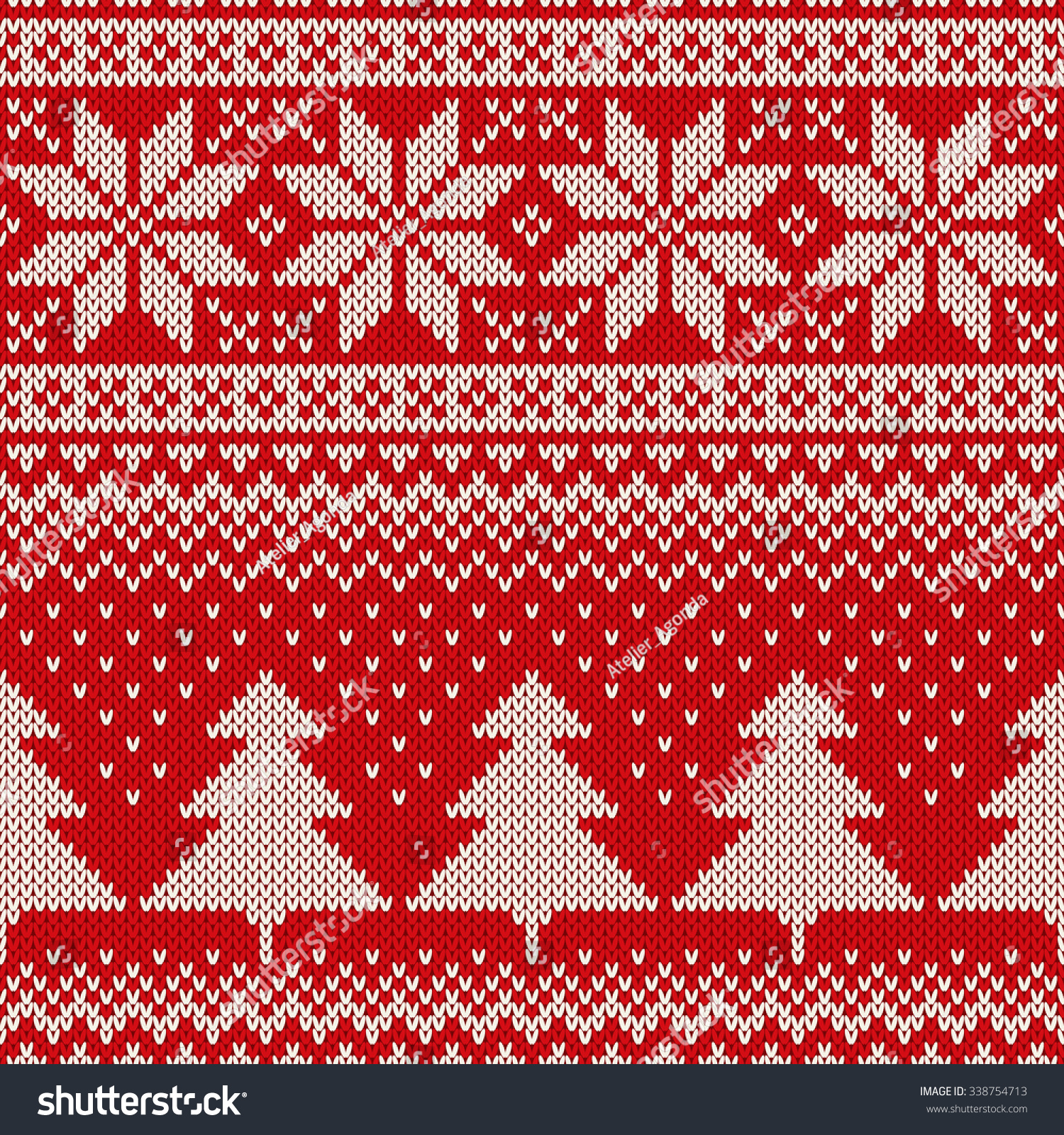 christmas sweater design seamless knitted pattern